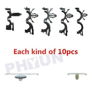 70pc Car Wire Harness Routing Clips for GM Ford Honda