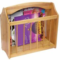 Bamboo STANDING WOODEN MAGAZINE RACK NEWSPAPER MAIL SHELF ...
