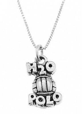 STERLING SILVER H2O POLO / WATER POLO CHARM WITH BOX CHAIN