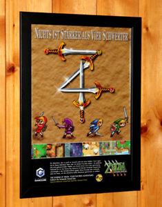 The Legend Of Zelda: Four Swords Adventures : legend, zelda:, swords, adventures, Legend, Zelda, Swords, Adventures, Poster, Framed, GameCube