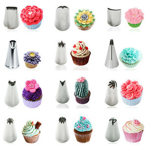 Stainless Steel Icing Piping Nozzles Cake Cupcake Decorating Tips