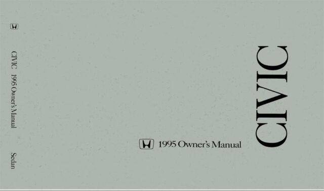 OEM Maintenance Owner's Manual Bound Honda Civic Sedan