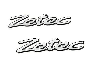 2x Genuine New FORD ZETEC WING GEL BADGE Emblem For Fiesta