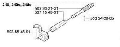 OEM oil pump oiler w/ worm gear HUSQVARNA CHAINSAW 340 345