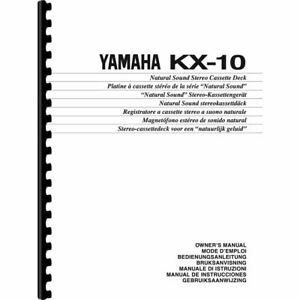 Yamaha KX-10 Cassette Deck Owner's/ User Manual (Pages: 16