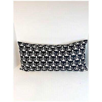 ikea mattram cat face blk white lumbar decorative pillow ebay