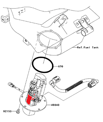 Kawasaki ZX-10R 2004-2010 Fuel Pump Strainer Ninja 49040