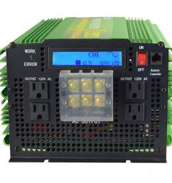 5000w pure sine wave solar power inverter 12v 24v dc to 120v 220v ac convert car for sale online ebay [ 1600 x 1600 Pixel ]