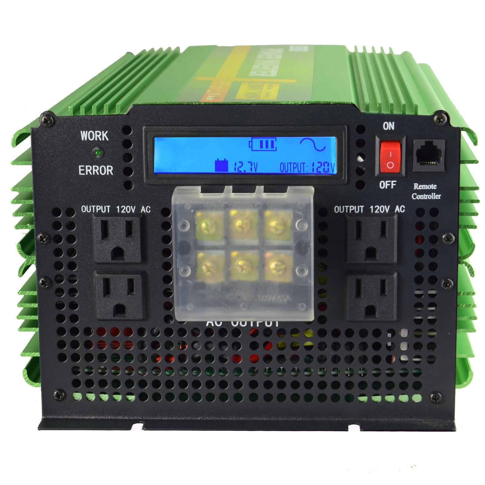 hight resolution of 5000w pure sine wave solar power inverter 12v 24v dc to 120v 220v ac convert car for sale online ebay