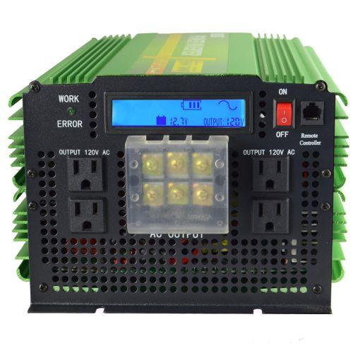 small resolution of 5000w pure sine wave solar power inverter 12v 24v dc to 120v 220v ac convert car for sale online ebay