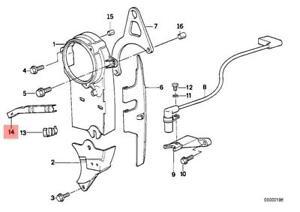 Genuine BMW E28 E30 E34 Z1 Cabrio Timing Belt Holding