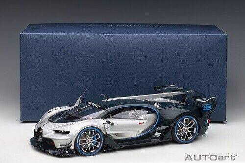 Bugatti Vision Gran Turismo 16 Silver Blue Carbon 1 18 Car By Autoart 70987 For Sale Online Ebay