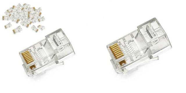 UGREEN RJ45 Connector 50 Pack Ethernet Cable Plug 8P8C