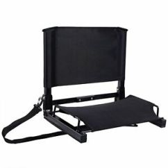 Stadium Chair For Bleachers Back Pack Folding Easy Carry Seats Chairs Benches Padded Image Is Loading