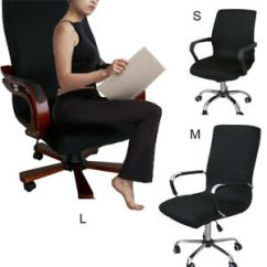 Chair Covers Office Seats Quincy Swivel Comfortble Computer Dining Armchair Seat Cover Image Is Loading
