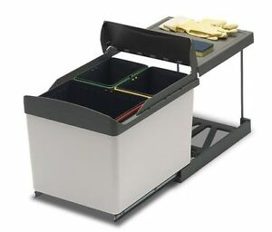 Pattumiera cucina carrello estraibile 3 secchi AUTOMATICA   eBay