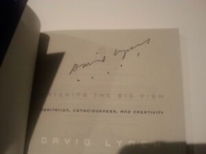 ~~ DAVID LYNCH Authentic Hand-Signed CATCHING THE BIG FISH Paperback ~~ B | eBay