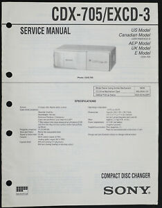 Sony CDX-705 EXCD-3 Original CD Changer Service Manual