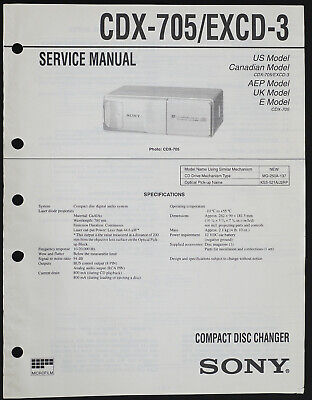 Sony CDX-705 EXCD-3 Original Cd-Changer Service Manual