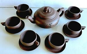 Chinese Yixing Zisha Purple Clay Teapot..6 cups.. 6 saucers