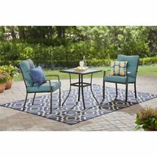 patio 3 pc bistro chat set chairs table outdoor garden balcony porch deck red