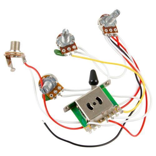 small resolution of guitar wiring harness book diagram schema guitar wiring harness kit 5 way switch 500k pots for