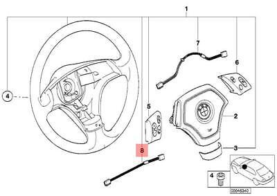 Genuine BMW E46 Coupe Sedan Wagon Steering Wheel Harness
