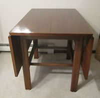 "Mid Century Modern walnut drop leaf extension table 40""x ..."