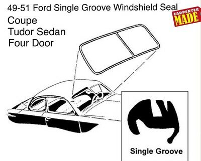 1949 1950 1951 49 50 51 Ford Single Groove Windshield