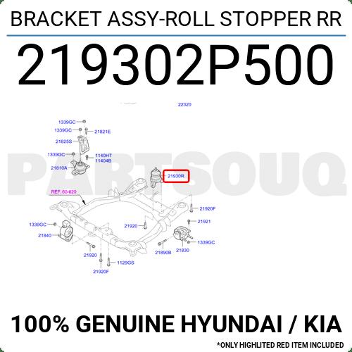 219302P500 Genuine Hyundai / KIA BRACKET ASSY-ROLL STOPPER