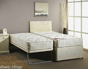 3FT SINGLE GUEST BED 3 IN 1 WITH MATTRESS PULLOUT TRUNDLE