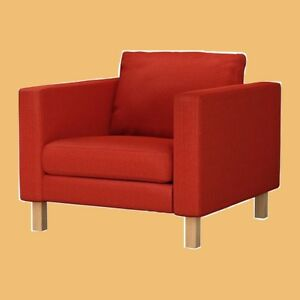 ikea orange chair covers with lumbar support karlstad rare korndal fire engine red cover new box image is loading