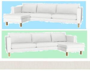 karlstad sofa blekinge white italsofa leather sectional sleeper ikea 3 seat chaise lounge longue image is loading amp