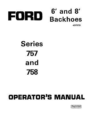 NEW HOLLAND Ford Se03933 Series 757 758 LOADER BACKHOE
