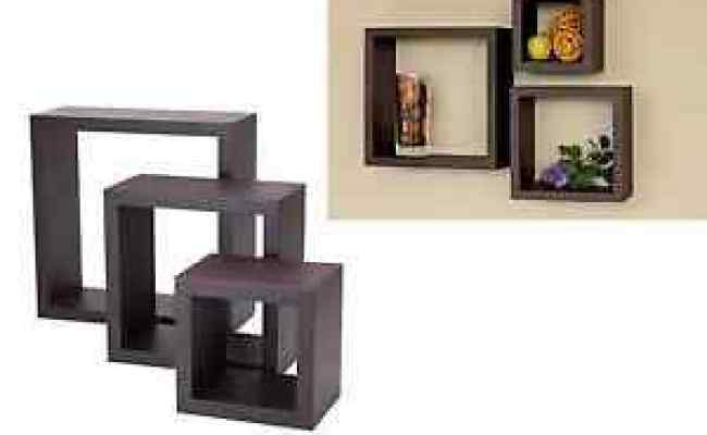 Floating Wall Shelves Wood Cube Set Of 3 Vintage