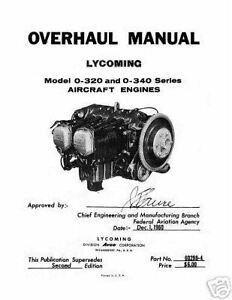 Lycoming O-320 & O-340 Series Aircraft 60298-4 Engine