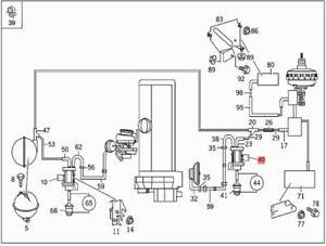 Genuine MERCEDES Diesel Vacuum Converter 414 638 638/2 903
