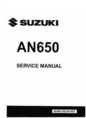2013 2014 2015 2016 Suzuki Burgman 650 AN650 service