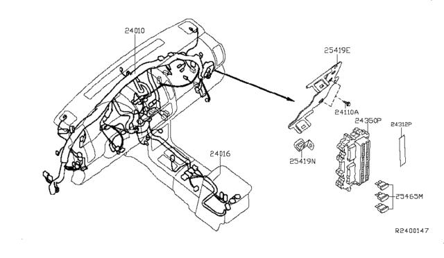 09-11 Altima Main Wiring Harness OEM Match# 24010-ZX13A