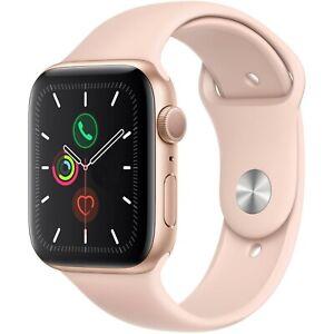 Apple Watch Series 5 40mm Aluminum Gold Case Pink Sand Sport Band MWV72LL/A