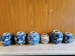 6XChinese antique jars