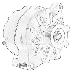 Tuff Stuff Alternator 7068RF6GRED; Smooth Back 100 Amp Red
