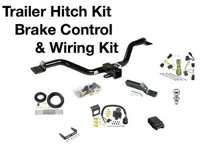 Complete Trailer Hitch Wiring Kit & Brake Control Fits a