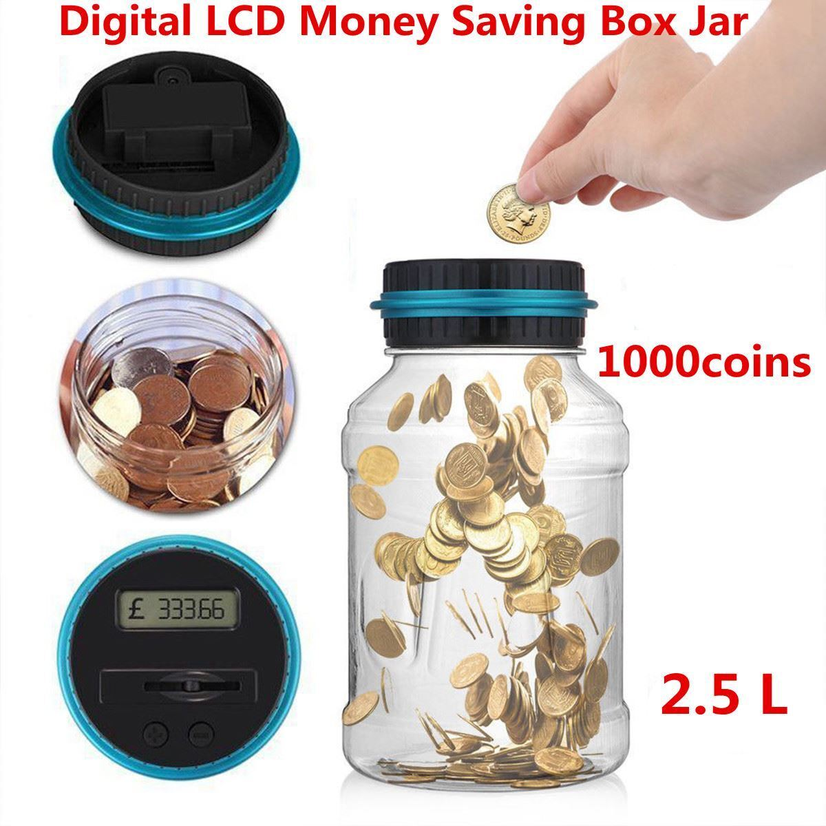 Coin Auto Counting Money Jar Cup Digital Lcd Automatic