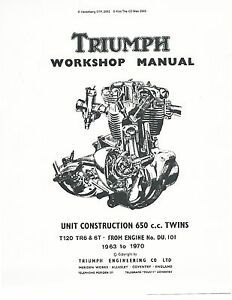 Triumph workshop service manual 1963, 1964, 1965, 1966