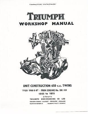 Triumph workshop service manual 1963, 1964, 1965, 1966