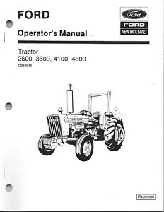 FORD 2600 3600 4100 4600 Tractor Operators Manual