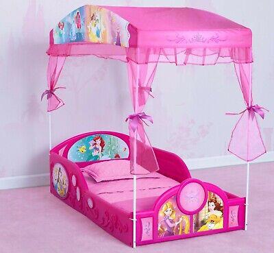 girls disney princess toddler bed set canopy frame kids bedroom furniture new ebay