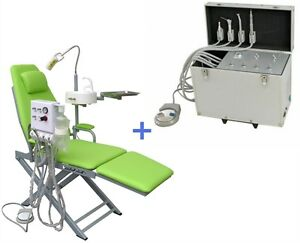 portable dental chair philippines covers hawaii turbine unit suction air compressor 4h fordable image is loading