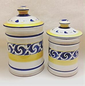 kitchen pottery canisters pantrys white herend village splash medium large image is loading